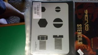 Stencil/Template/Shape Guide  'BOLTS'  A6 size  150x115mm was £7 NOW £4.0 inc postage